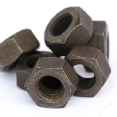 Piulita hexagonala tratata DIN 934 GR 12 brunata